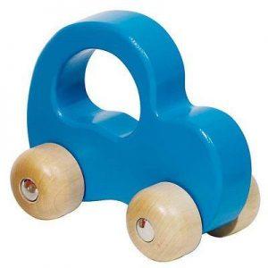 Petite voiture bleue en bois