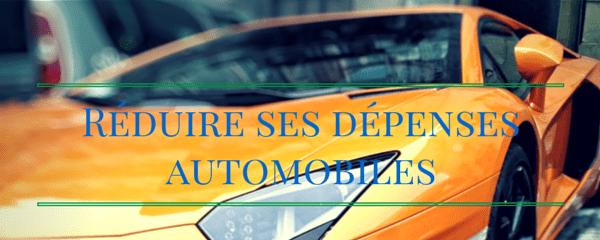 Réduire ses dépenses automobiles