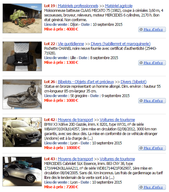 Les ventes domaniales permettent d'acheter des véhicules
