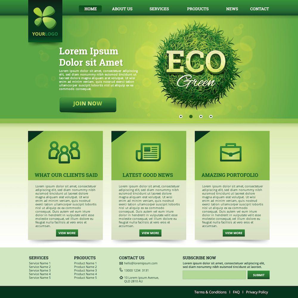 Modèle de sites vert