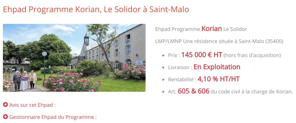 EHPAD à Saint-Malo