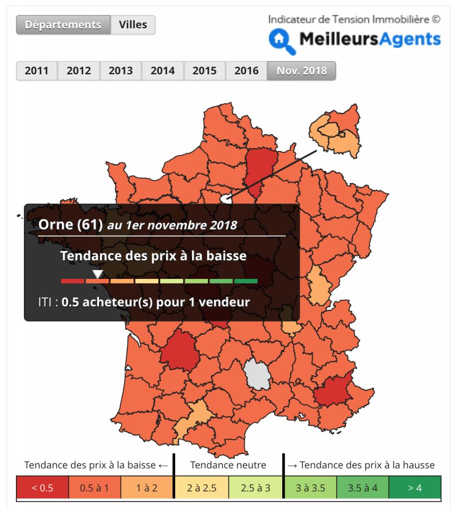 Indicateur de tension en France