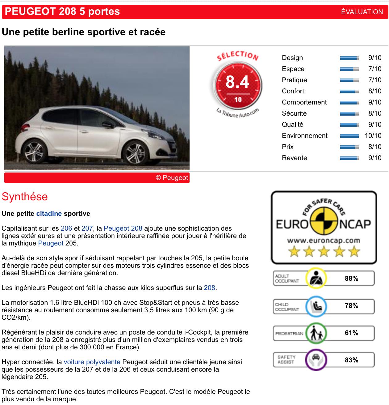 LaTribuneAuto : déterminer le coût futur de votre automobile