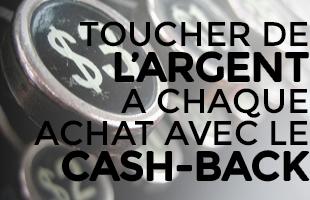 Toucher de l' argent avec cashback