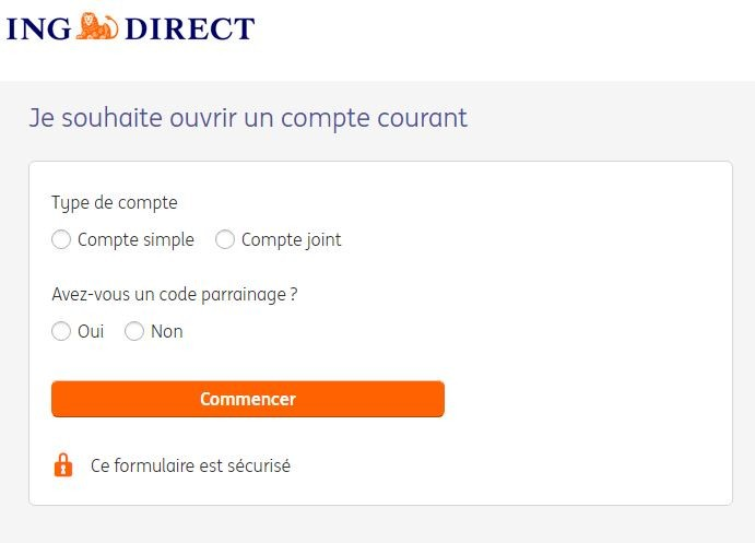 comment ouvrir un compte courant ING direct