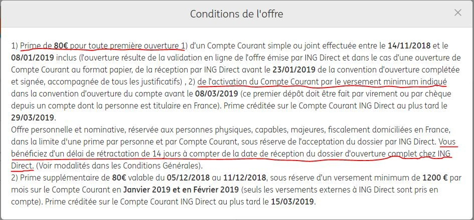 Conditions pour ovrir un compte ING